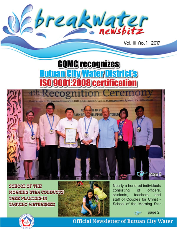 GQMC Recognizes BCWD ISO Certification