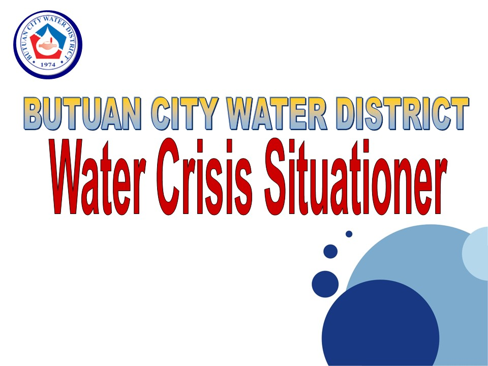 WATER CRISIS SITUATIONER