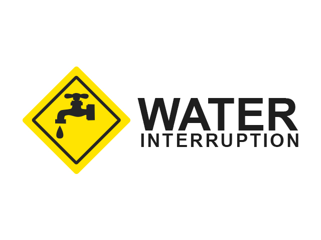 WATER SERVICE INTERRUPTION Oct. 3, 2016
