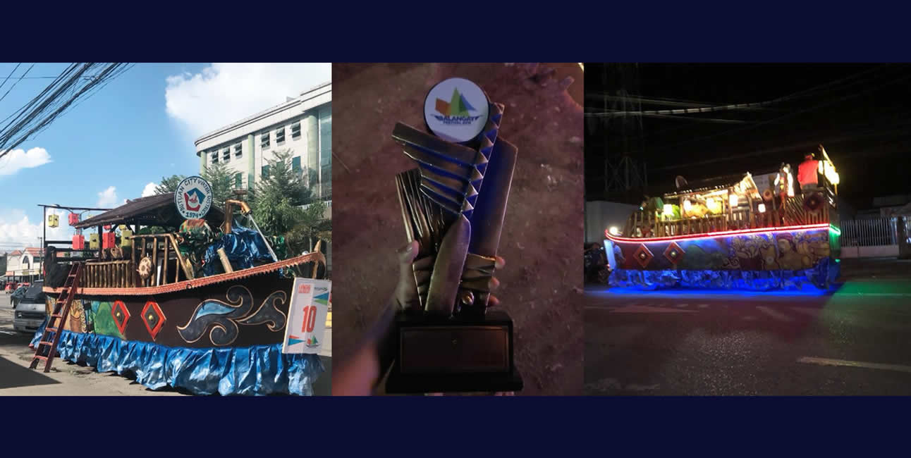 BCWD Balangay Boat entry to the Balangay Festival 2018 won 2nd Runner-Up